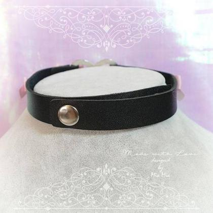 BDSM Daddys Girl Choker Necklace Bl..