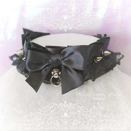 Choker Necklace ,Kitten Play Collar..