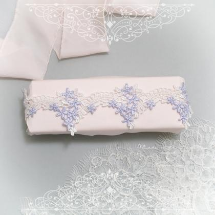White Light Purple Lace Garter, Wed..