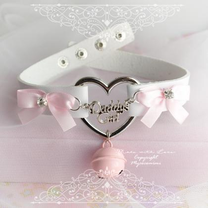 Daddys Girl DDLG Heart Choker Neck..