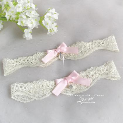 Wedding Bridal Garter Set , Light B..