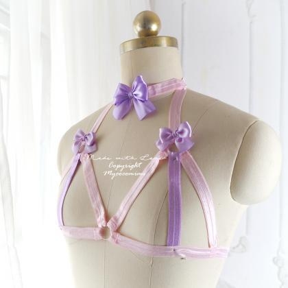 Baby Pink Lavender Purple Bow Body..