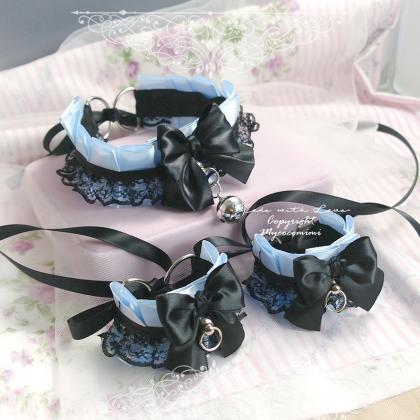 Kitten Pet Play Gear Collar and Cu..