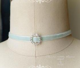 Mint Green Choker Ne..