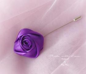 Flower Lapel Pin , R..