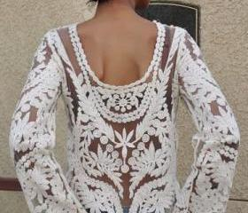 Lace Long Sleeves to..