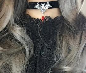 Necklace Choker Bat ..