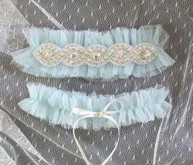 Set of 2 Light Blue ..