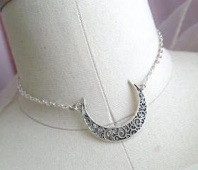 Crescent Moon Choker..