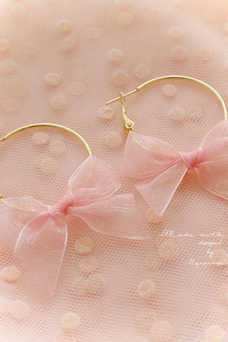 Sweetheart Gold Heart Hoop Black Bow Earrings , Cute Kawaii Sweet DDLG Daddys Baby Girl Fairy Kei JewelrySweetheart Gold Hoop Baby Pink Black Bow Earrings , Cute Kawaii Sweet DDLG Daddys Baby Girl Fairy Kei Jewelry