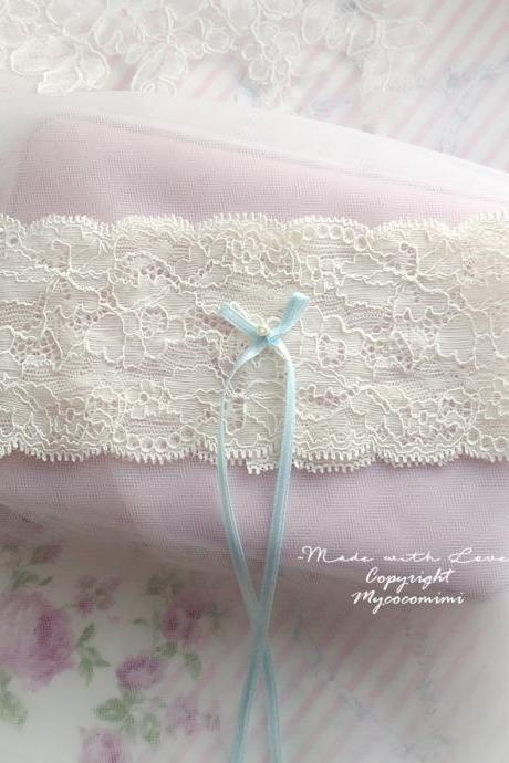 Wedding Bridal Garter , White Tulle, Something Blue Light Blue Bow Bling Rhinestone , Ruffles Tutu Lingerie , Keepsake Toss