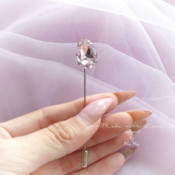 Lapel pin Rhinestone lapel pin pink crystal men suit pin Men's Boutonniere wedding,hat pin,tie pin brooch accessories Buttonhole pin