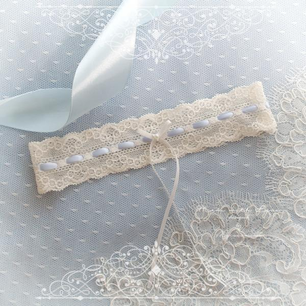Ivory lace garter, Something Blue Garter ,White bow, Victorian Bridal lingerie Wedding Garter Belt Prom Honeymoon Keepsake Toss