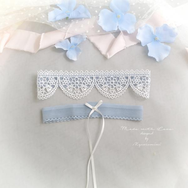 White Lace Something Blue Antique Blue Wedding Garter Set ,Pearl Bow , Simply Skinny Garter , Bridal Bride Wedding Lingerie Keepsake Toss